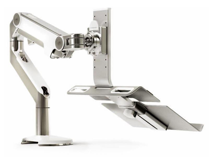 humanscale m2 tischhalterung tischklemme mit laptophalter. Black Bedroom Furniture Sets. Home Design Ideas